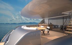 Picture design, style, interior, yacht, deck, Suite