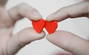 Picture love, red, background, widescreen, Wallpaper, romance, mood, heart, hands, hearts, wallpaper, red, fingers, love, lovers, …