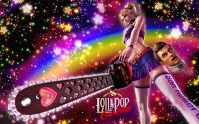 Picture chainsaw, Lollipop Chainsaw, Juliet Starling, Nick, Grasshopper Manufacture