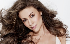 Picture girl, dress, actress, alyssa Milano, Alyssa Milano
