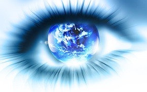 Wallpaper eyes, eyelashes, planet, the pupil