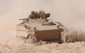 Picture sand, machine, dust, combat, infantry, Marder, «Marder»