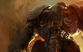 Picture smoke, Terran, Starcraft, marine, power armor
