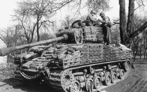 Wallpaper Americans, war, Sherman, Tank