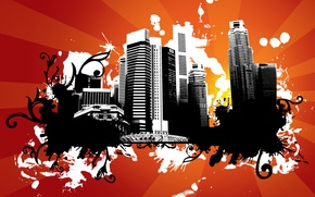 Picture the city, building, vector