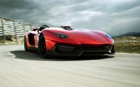 Picture red, super car, Lamborghini, Lamborghini Aventador J, car, Aventador