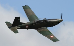 Picture flight, the plane, training, PC-7