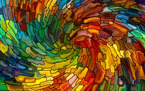 Picture mosaic, abstraction, stained glass, colorful