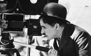 Picture camera, bowler, antennae, Chaplin, Charles