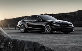 Picture black, Mercedes, tuning, amg, rechange, vorsteiner, mercedes-benz cls 63