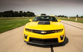 Picture Top Gear, Yellow, Chevrolet Camaro ZL1