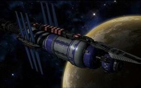 Picture space, stars, spaceship, planet, babylon, Babylon 5