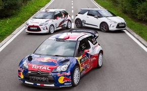 Picture road, sport, Citroen, Citroen, car, racer, rally, WRC, Citroen DS3, Sebastian Loeb