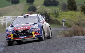 Picture Citroen, Red Bull, DS3, WRC, Rally, Rally, The front, Total