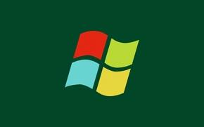Picture logo, Windows, green