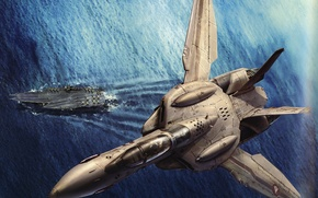 Picture The ocean, Future, The plane, Art, The carrier