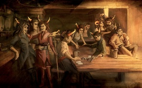Picture Beta, tavern, Homestuck, Alpha, Trolls
