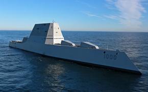 Picture weapons, Atlantic Ocean, USS Zumwalt (DDG 1000), multimission ship