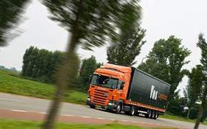 Picture Road, Truck, The trailer, R420, Scania, Tractor