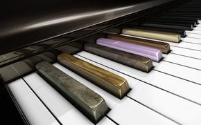 Picture keys, piano, airena art