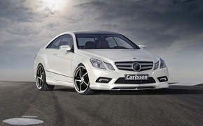 Picture road, clouds, tuning, MERCEDES