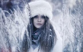 Picture winter, snow, portrait, Karen Abramyan, Russian February