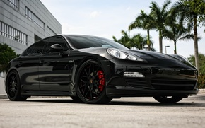 Picture Porsche, Panamera, wheels, black