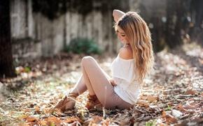 Picture girl, nature, pose, Sofia Monreal