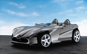 Picture road, machine, auto, the sky, Mercedes Benz