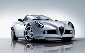 Wallpaper Alfa Romeo, White