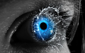 Wallpaper splash, blue, 151, Eyes