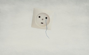 Picture background, outlet, thread