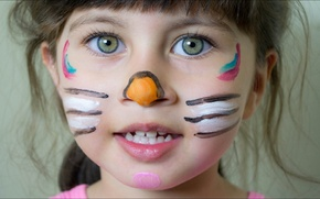 Picture Girl, style, eyes, face, sweet, mask, kid, portrait