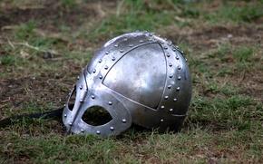 Picture metal, armor, helmet, the Vikings
