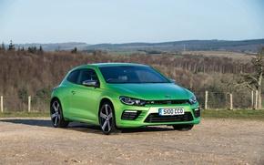 Picture green, volkswagen, scirocco