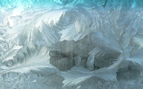 Picture cold, winter, glass, patterns, texture, frost