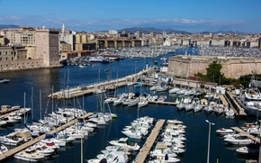 Picture France, home, boats, boats, promenade, piers, Marseille