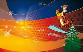 Wallpaper tiger, Winnie the Pooh, new year, tiger
