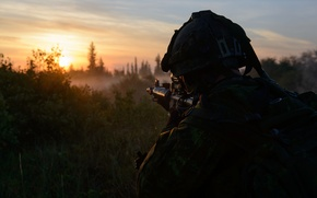 Picture morning, soldiers, Canadian Army, p