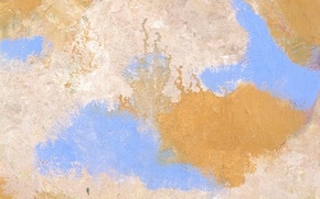 Picture yellow, wall, blue, paint, spot
