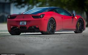 Picture machine, auto, asphalt, Ferrari, lights, Ferrari, wheels, drives, auto, feed, 2015, Vossen Wheels