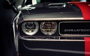 Picture headlight, the hood, challenger