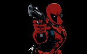 Picture red, Deadpool, Deadpool, comics, MARVEL, Wade Wilson