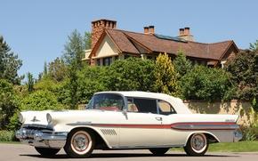 Picture beauty, white, penthouse, convertible, pontiac, 1957, bonneville