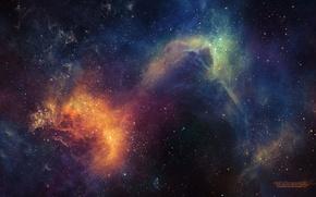 Wallpaper stars, glow, space, universe, nebula