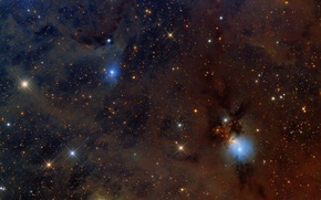 Picture nebula, Perseus, in the constellation, reflecting, NGC1333