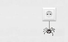 Picture mood, art, outlet, spider