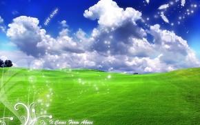 Picture clouds, landscape, labels, landscape, serenity, ease