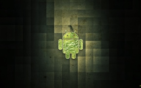 Wallpaper green, android, smartphone