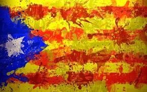 Picture paint, star, flag, flag, Estelada, Unofficial flag of the Catalan lands, Escalada